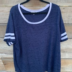 Plus Size 3X Navy Blue and White Jersey Shirt
